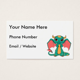 Magic Flying Dragon - Cute Smile Business Card
