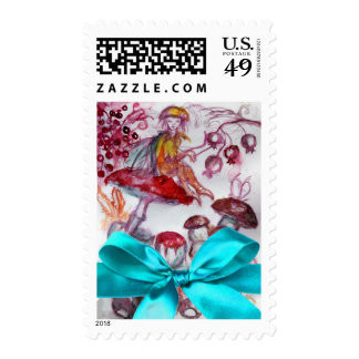 MAGIC FOLLET OF MUSHROOMS / BLUE  RIBBON NEW BABY POSTAGE STAMPS