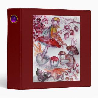 MAGIC FOLLET OF MUSHROOMS Fantasy Red White Recipe Binder