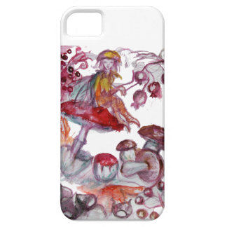 MAGIC FOLLET OF MUSHROOMS Red White Floral Fantasy iPhone SE/5/5s Case