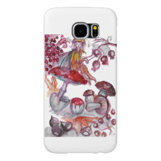 MAGIC FOLLET OF MUSHROOMS Red White Floral Fantasy Samsung Galaxy S6 Case