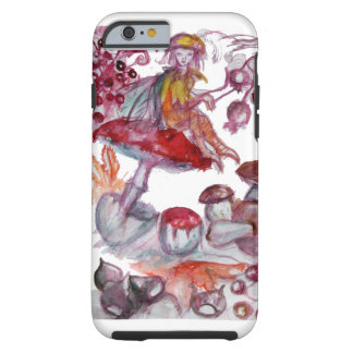 MAGIC FOLLET OF MUSHROOMS Red White Floral Fantasy Tough iPhone 6 Case