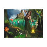Magic Forest Stretched Canvas Print