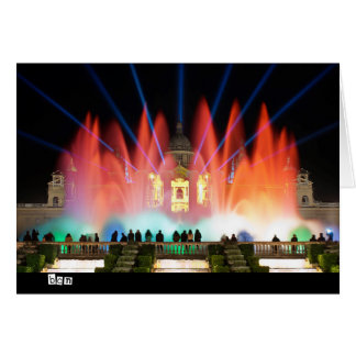 Magic Fountain in Barcelona City, Spain Greeting Cards