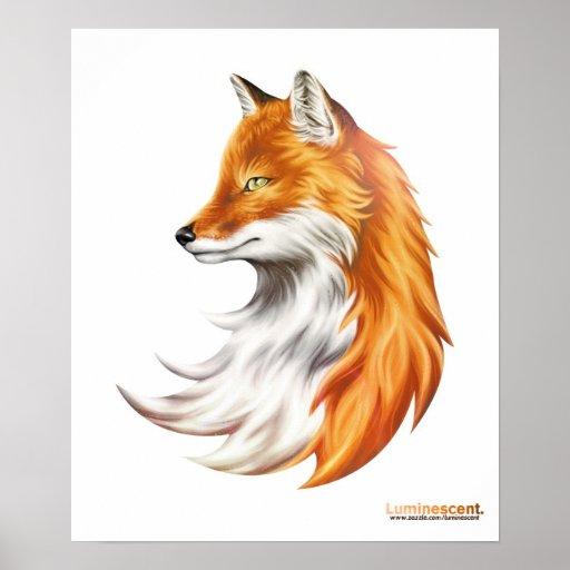 Magic Fox White Poster Zazzle