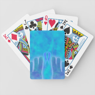 Magic fun blue hand wicca new age lavender chic bicycle poker deck