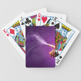 Magic fun violet hand wicca new age lavender chic deck of cards
