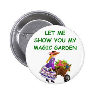 magic garden pinback button