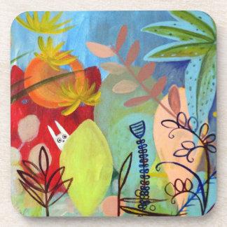 magic garden drink coaster
