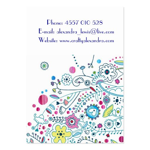 Magic Garden Large Business Card