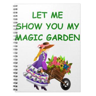 magic garden spiral notebook