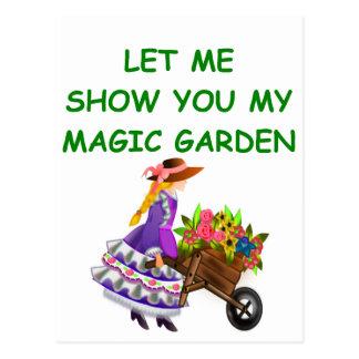 magic garden postcard