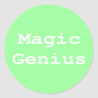 Magic Genius Gifts Classic Round Sticker