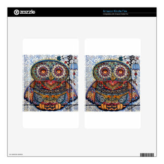 Magic graphic owl painting decals for kindle fire