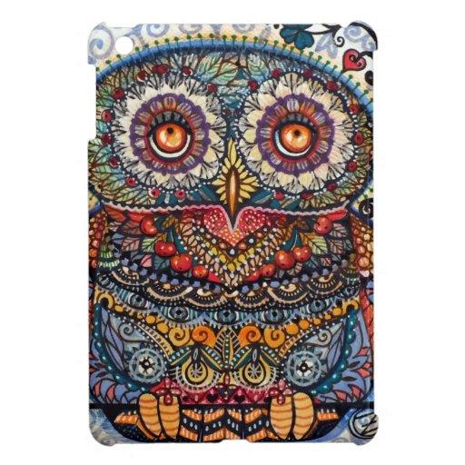 Magic graphic owl painting iPad mini cover