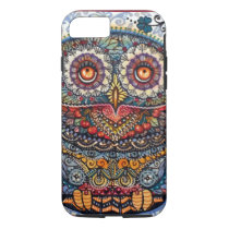 Magic graphic owl painting iPhone 7 case