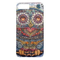 Magic graphic owl painting iPhone 7 plus case