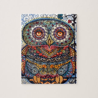 Magic graphic owl painting jigsaw puzzle