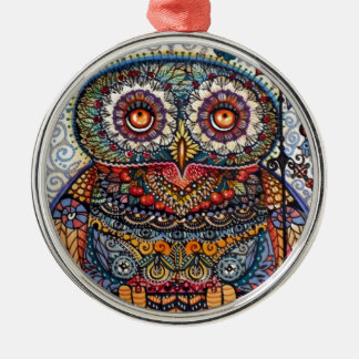 Magic graphic owl painting christmas ornaments