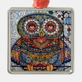 Magic graphic owl painting christmas tree ornaments