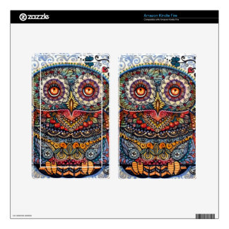 Magic graphic owl painting kindle fire skins