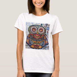 Magic graphic owl painting T-Shirt