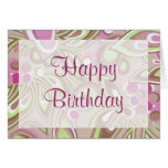 Magic green & purple - Customize Greeting Cards