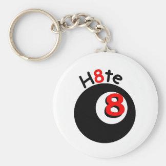 Magic H8te Ball 'H8te' key chain