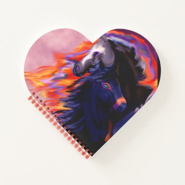 Halloween Themed Magic Halloween Horse Pony Love Heart Journal