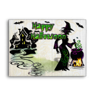 Magic Halloween Witch Envelope