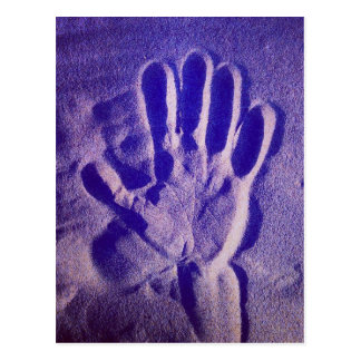 Magic hand - postcard