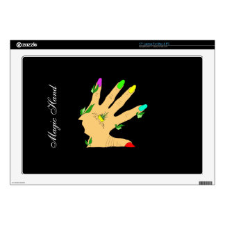 """magic hand with colors nails skin for 17"""" laptop"""