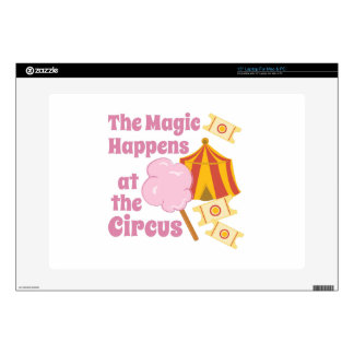 """Magic Happens Decal For 15"""" Laptop"""