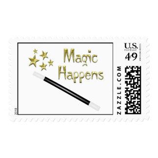 Magic Happens Postage