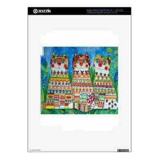 Magic happy cats iPad 3 decals