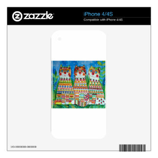 Magic happy cats decal for the iPhone 4S