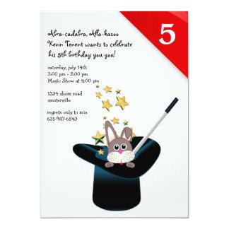 """Magic Hat Party Invitation 5"""" X 7"""" Invitation Card"""