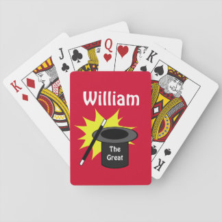 Magic Hat Personalized Playing Cards
