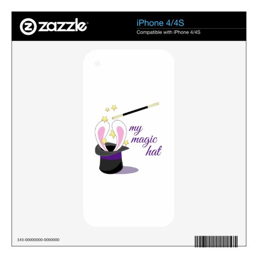 Magic Hat Decals For iPhone 4S