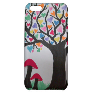 Magic heart tree and mushrooms iPhone 5C covers