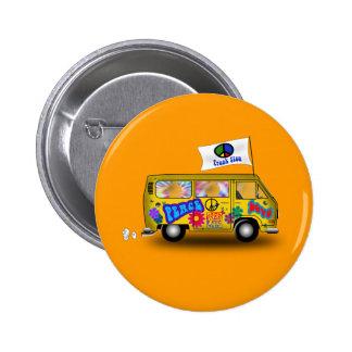 Magic Hippie Van 2 Inch Round Button