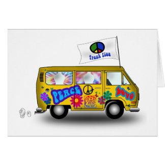 Magic Hippie Van Greeting Card