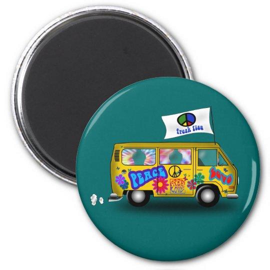 Magic Hippie Van Magnet