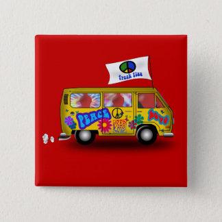 Magic Hippie Van Pinback Button