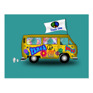 Magic Hippie Van Postcard