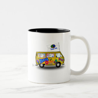 Magic Hippie Van Two-Tone Coffee Mug