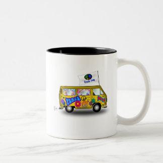 Magic Hippie Van Two-Tone Coffee Mug