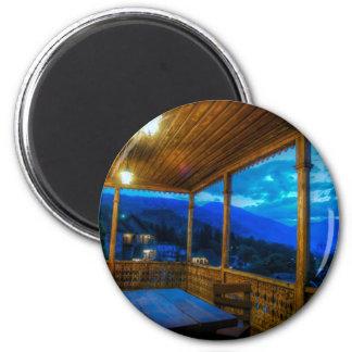 Magic Hour On The Veranda 2 Inch Round Magnet