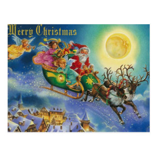 Magic in the air christmas post cards