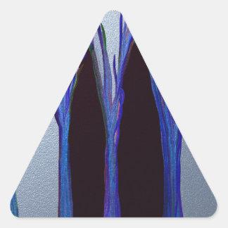 magic in the forest triangle sticker